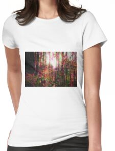 Psychedelic Forest I Womens Fitted T-Shirt