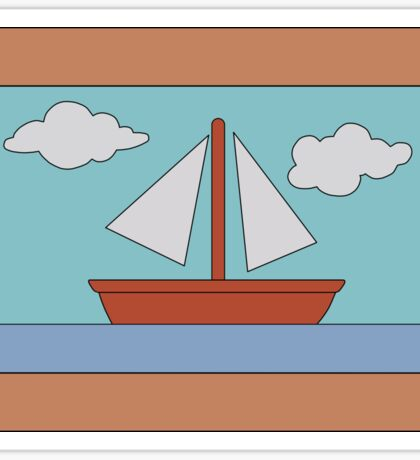 Simpson's Boat Picture (framed) Sticker