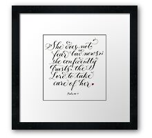 Trust the Lord inspirational verse for women Framed Print