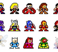 8-bit Classic Avengers by groundhog7s