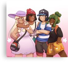 Pokemon - Alola Squad Canvas Print