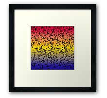 Color Gradient Black Marbleized - Blue | Yellow | Red Framed Print