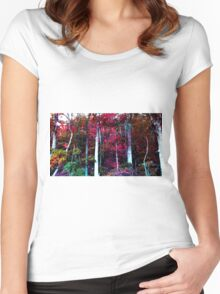 Psychedelic Forest IV Women's Fitted Scoop T-Shirt