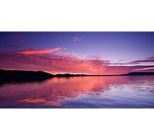 Vivid Orange Sunrise Reflections Photographic Print