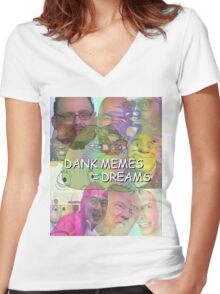Collection of the Dankest Memes #2 Women's Fitted V-Neck T-Shirt