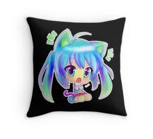 Chibi Girl Throw Pillow
