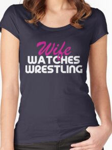 Wife Watches Wrestling Podcast Women's Fitted Scoop T-Shirt