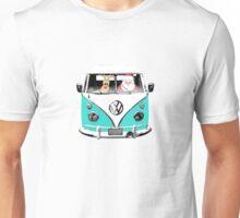 VW Camper Santa Father Christmas Aqua Unisex T-Shirt