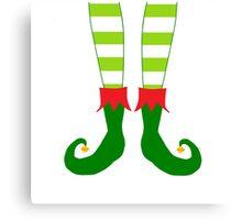 Christmas Elf Feet Canvas Print