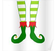 Christmas Elf Feet Poster