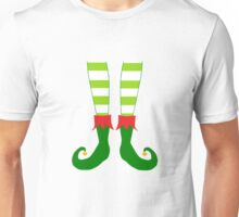 Christmas Elf Feet Unisex T-Shirt