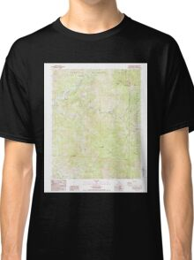 USGS TOPO Map California CA Case Mountain 289019 1987 24000 geo Classic T-Shirt