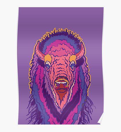Pink Bison Poster