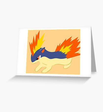 Quilava (pokemon) Greeting Card
