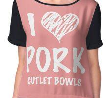 I <3 Pork Cutlet Bowls (Yuri on Ice) Chiffon Top