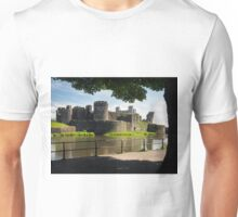Caerphilly Castle, Wales. Unisex T-Shirt