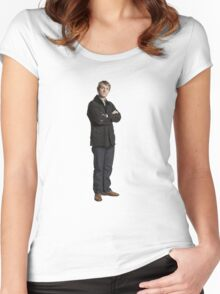 Sherlock John Watson print Women's Fitted Scoop T-Shirt