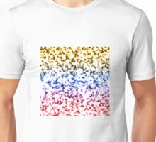 Color Gradient White Marbleized - Red | Blue | Gold Unisex T-Shirt