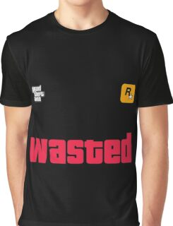 Grand Theft Auto Wasted GTA Graphic T-Shirt