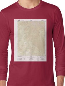 USGS TOPO Map California CA Buckingham Mountain 20120402 TM geo Long Sleeve T-Shirt