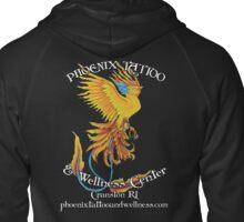 Phoenix Tattoo and Wellness Center Logo with Web address Zipped Hoodie