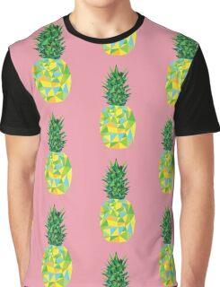 Geometric Pineapple Graphic T-Shirt