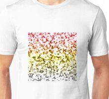 Color Gradient White Marbleized - Black | Yellow | Red Unisex T-Shirt