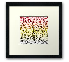 Color Gradient White Marbleized - Black | Yellow | Red Framed Print