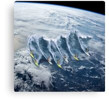 Surfing the Earth Canvas Print