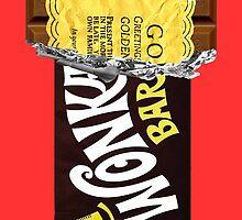 Wonka Bar Golden Ticket iPhone Case and Samsung Case by funandhappy