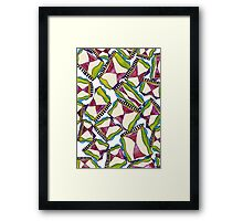 abstract hourglass on stage Framed Print