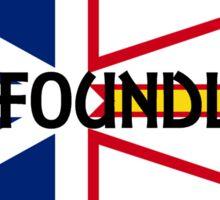 newfoundland name on flag Sticker