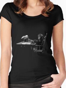Monkey at Typewriter Women's Fitted Scoop T-Shirt