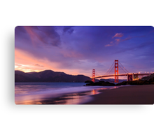 Golden Gate Dusk Canvas Print