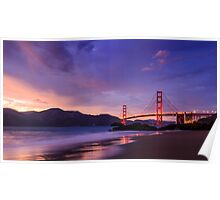 Golden Gate Dusk Poster