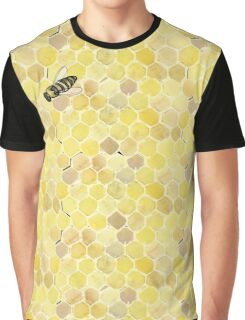 Cool Beehive Pattern Graphic T-Shirt