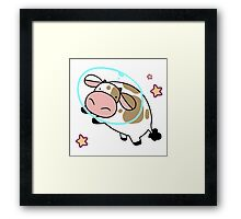 Space Cow Framed Print