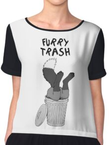 Furry Trash - Silver Fox Chiffon Top