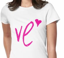 "LO - VE "" Design Couple"" Womens Fitted T-Shirt"
