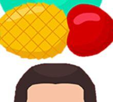 Pen Pineapple Apple Pen Sticker