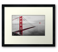 Misty Bridge Framed Print