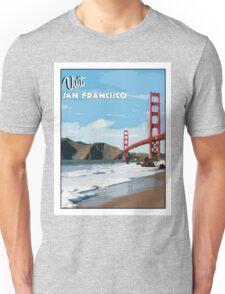 Vintage San Francisco Travel Poster Unisex T-Shirt