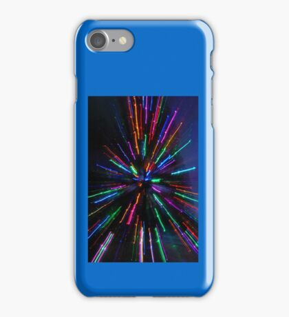 blue and crazy christmas iPhone Case/Skin
