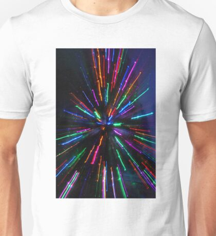 blue and crazy christmas Unisex T-Shirt