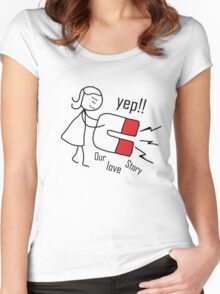 """our love story """"design couple"""" Women's Fitted Scoop T-Shirt"""
