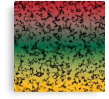 Color Gradient Black Marbleized - Yellow | Green | Red Canvas Print