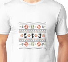 Cat Knit Pattern Christmas Unisex T-Shirt