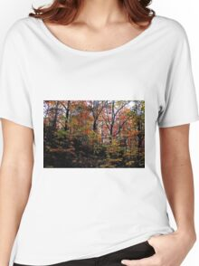 Neon Autumn Trees I Women's Relaxed Fit T-Shirt