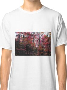 Neon Autumn Trees II Classic T-Shirt