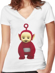 Po Women's Fitted V-Neck T-Shirt